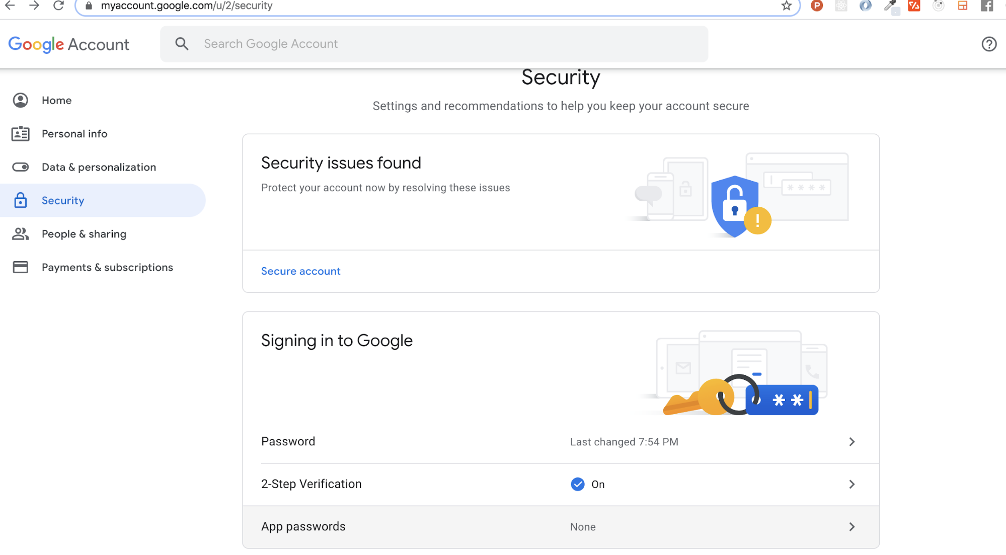 Create app password for Gmail