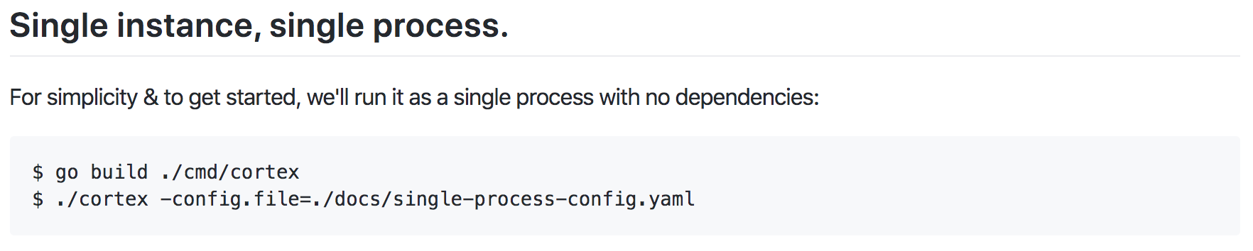 Coding the Single Instance and Process