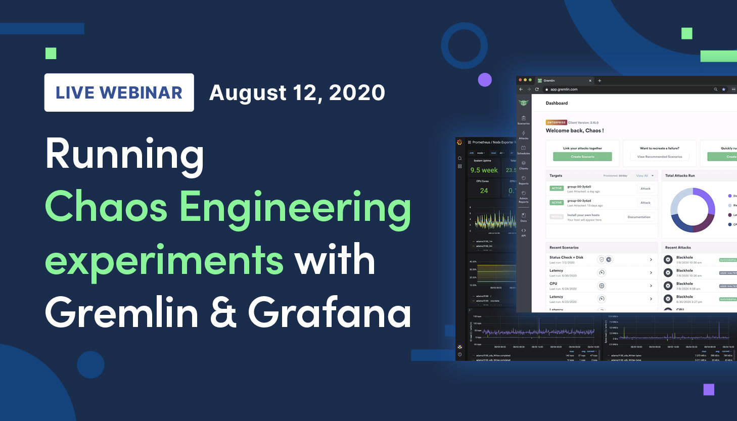 Running Chaos Engineering experiments with Gremlin and Grafana