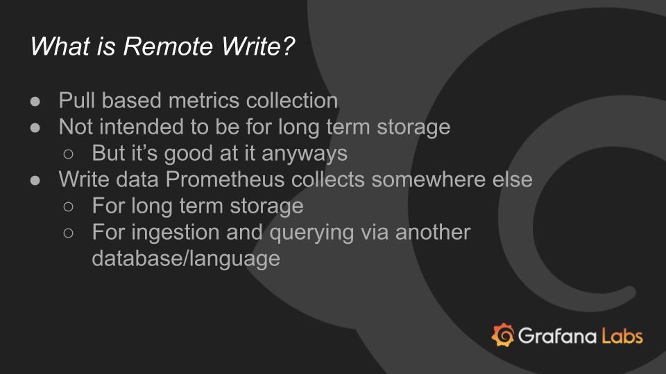 Remote Write Basics