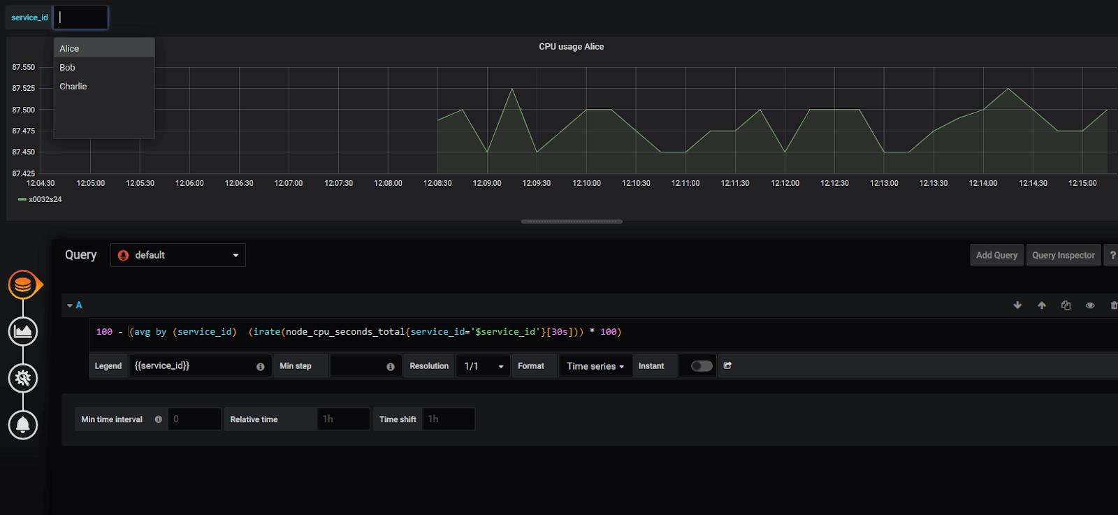 Simple dashboard