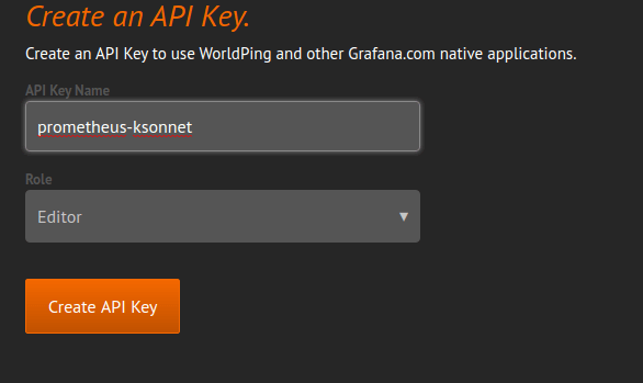 Create an API Key