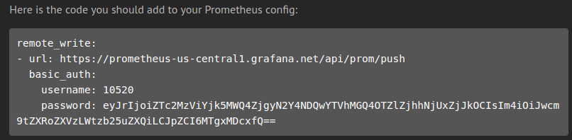 Code for Prometheus Config