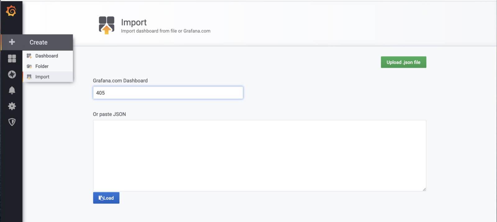 Import the Node Exporter Server Metrics Dashboard