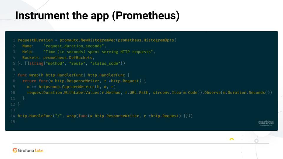 Instrument the app (Prometheus)