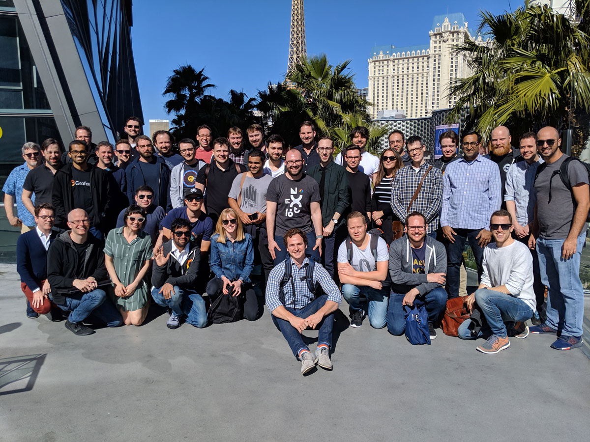 Post-GrafanaCon offsite in Las Vegas, 2019
