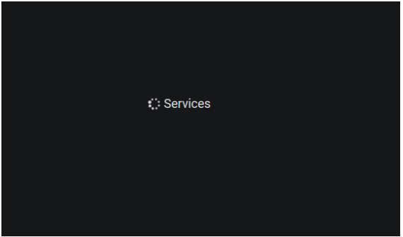 Variables services error