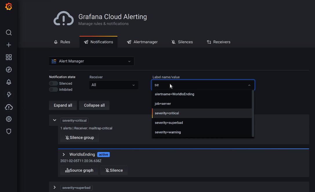 Grafana Cloud Alerting Notifications