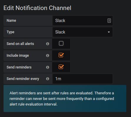 Alerting notification reminders setup