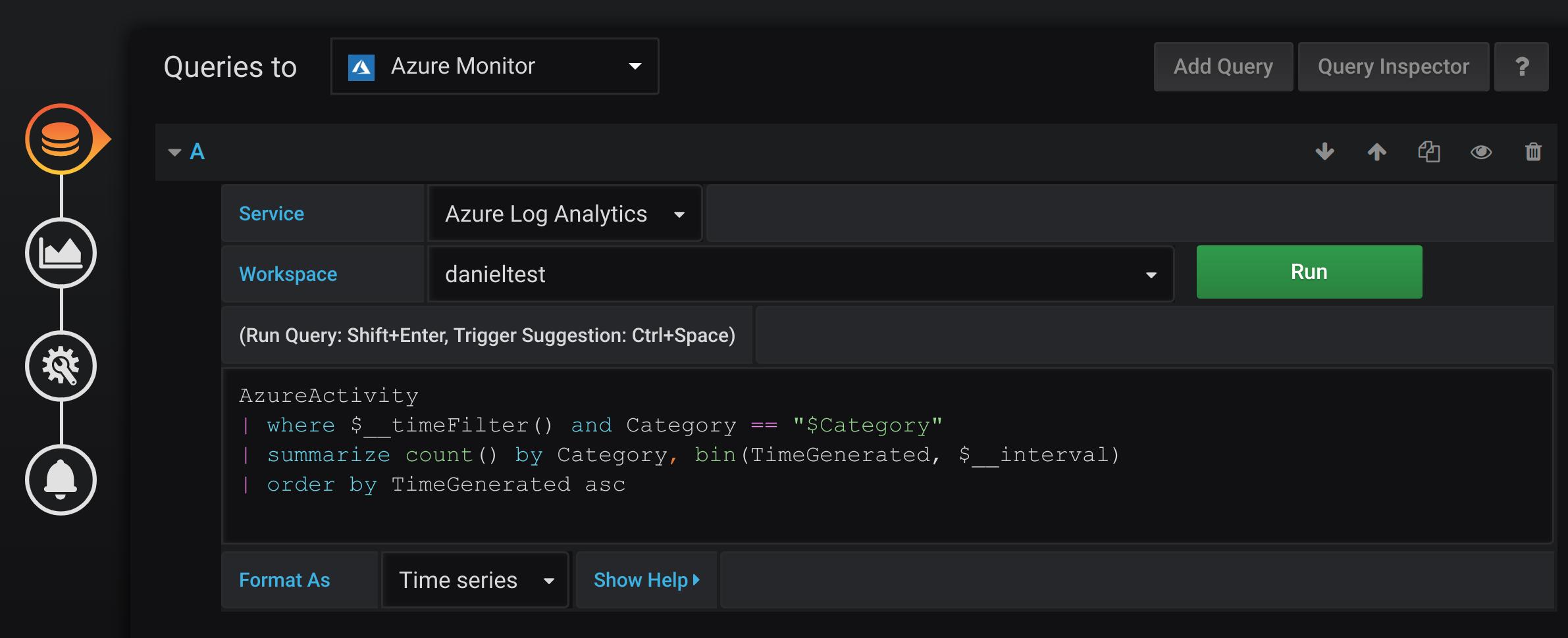 Azure Log Analytics Query Editor