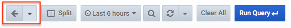 Screenshot of the explore toolbar