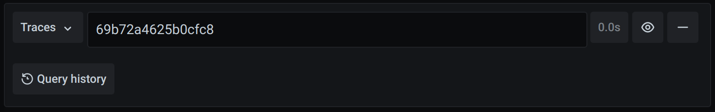 Screenshot of the Zipkin query editor
